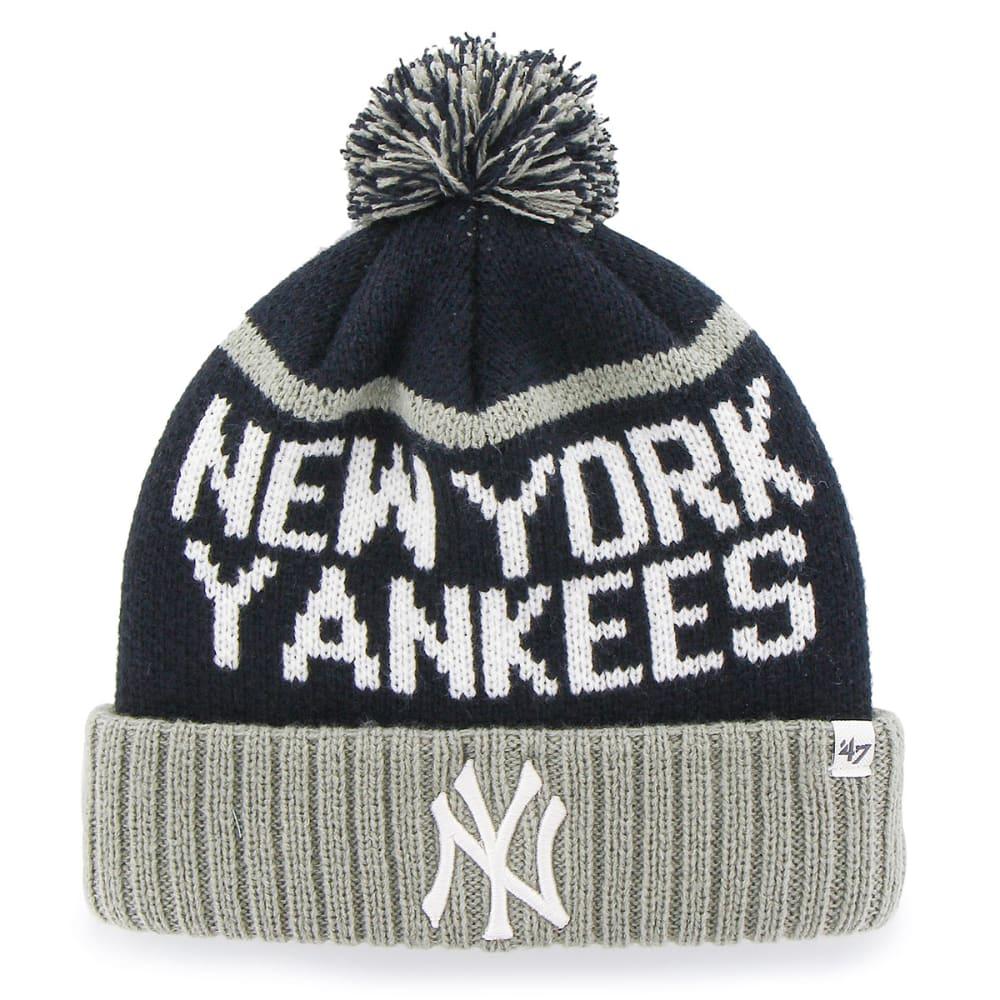 NEW YORK YANKEES Linesman Pom Beanie - NAVY