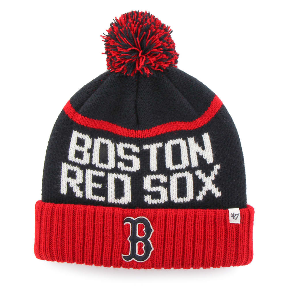 BOSTON RED SOX Linesman Pom Beanie - NAVY