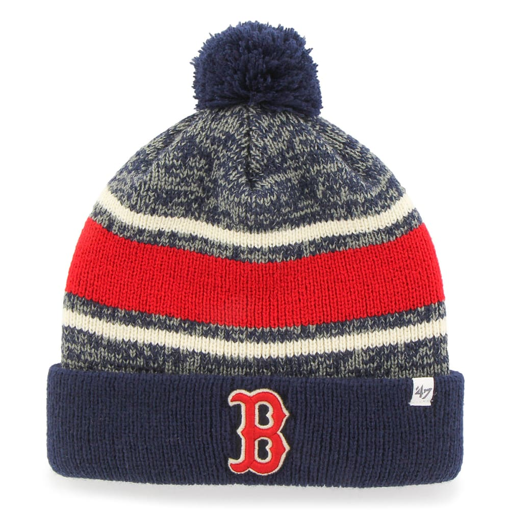 BOSTON RED SOX Fairfax Cuffed Pom Beanie - NAVY