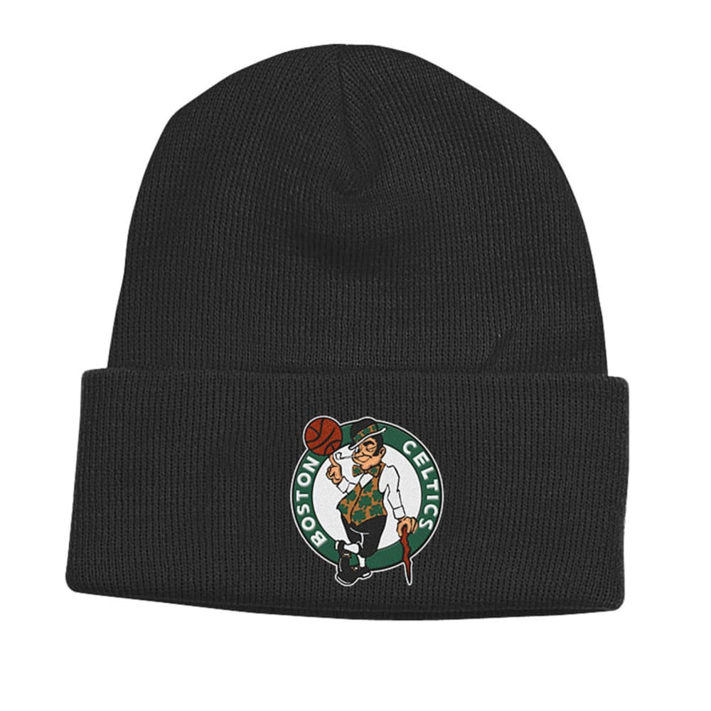 BOSTON CELTICS Cuffed Black Beanie - BLACK