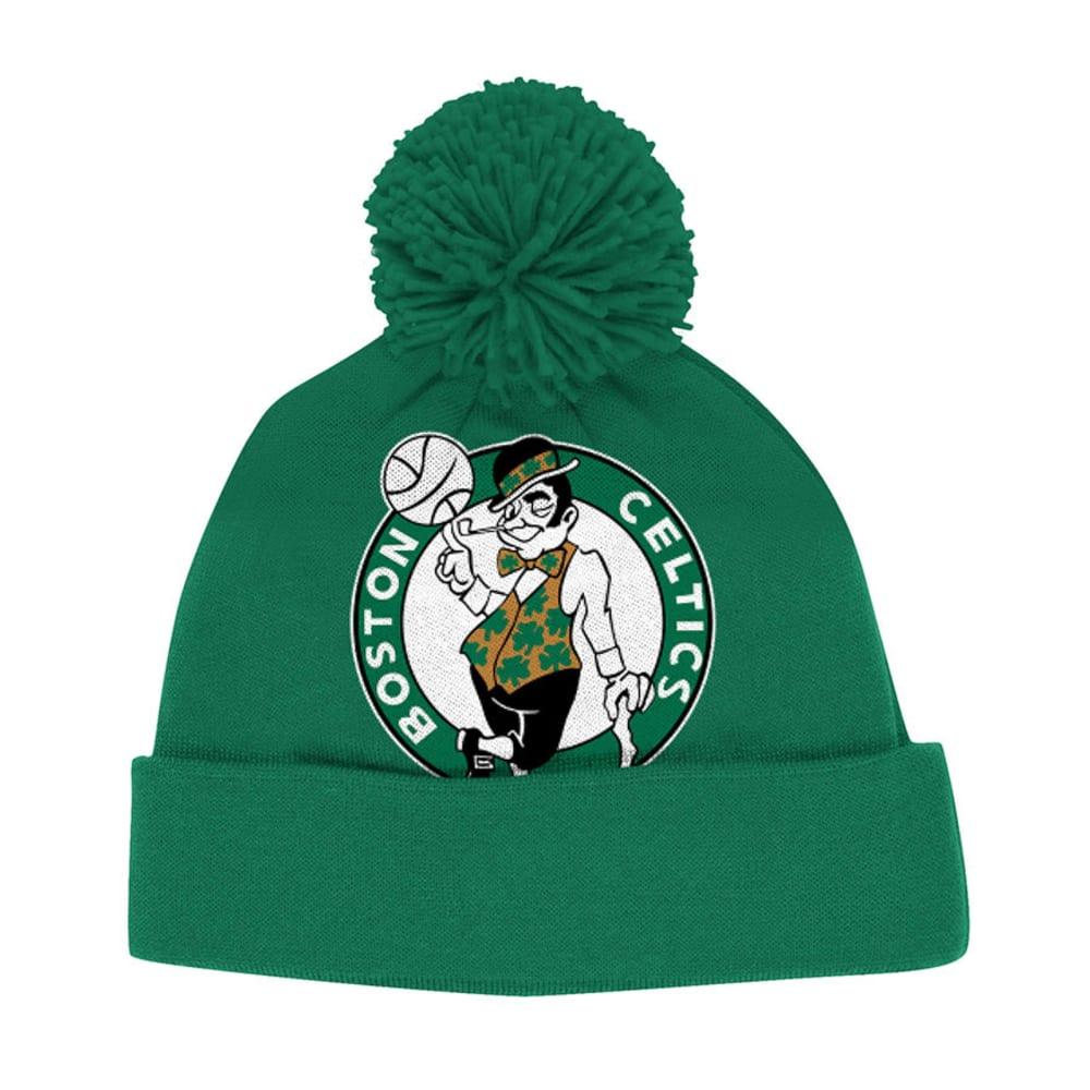 BOSTON CELTICS Green Cuffed Pom Beanie - GREEN