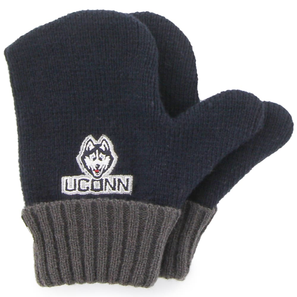 UCONN Kids' '47 Bam Bam Knit Hat and Gloves Set - NAVY
