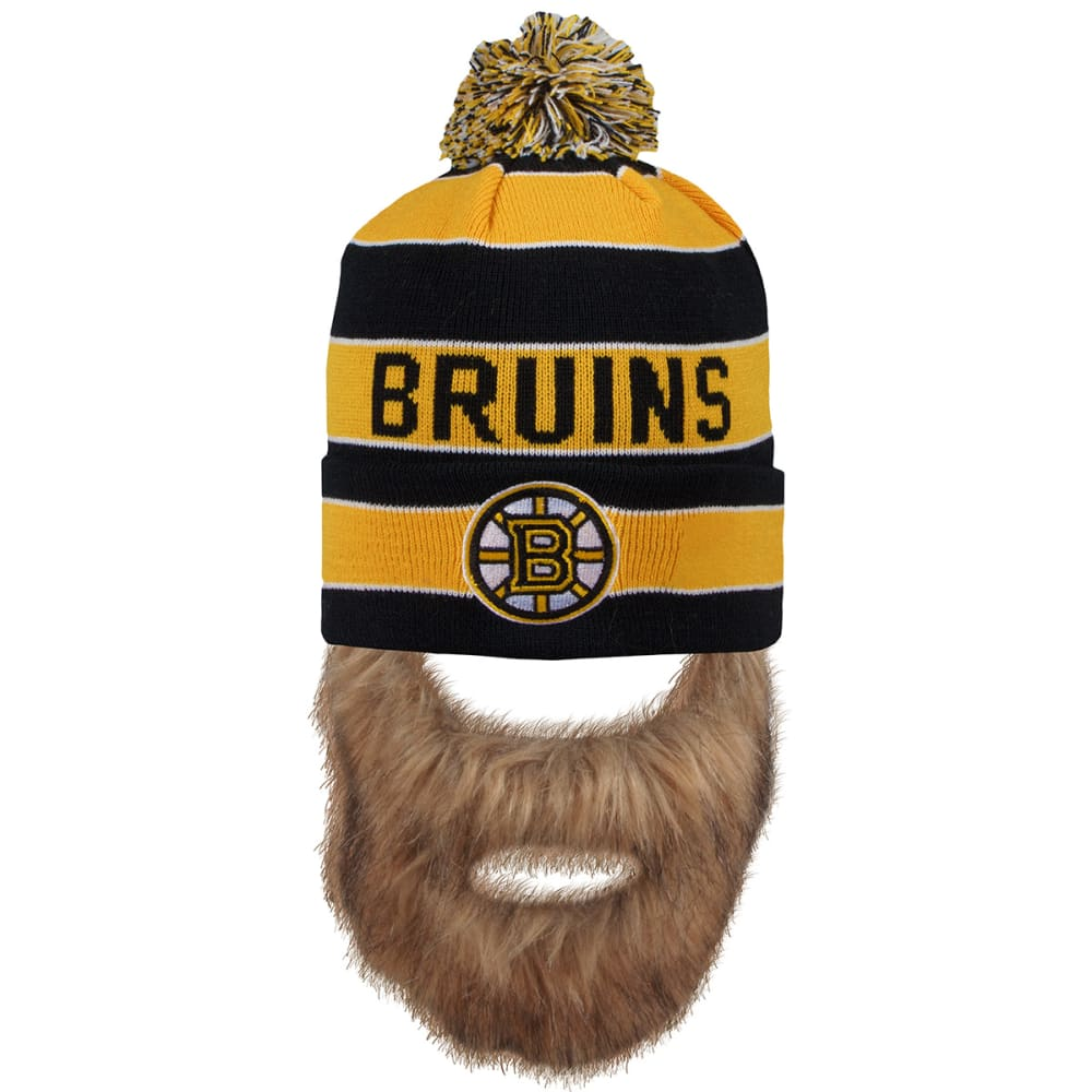 BOSTON BRUINS Sauk Beard Beanie - BLACK/YELLOW