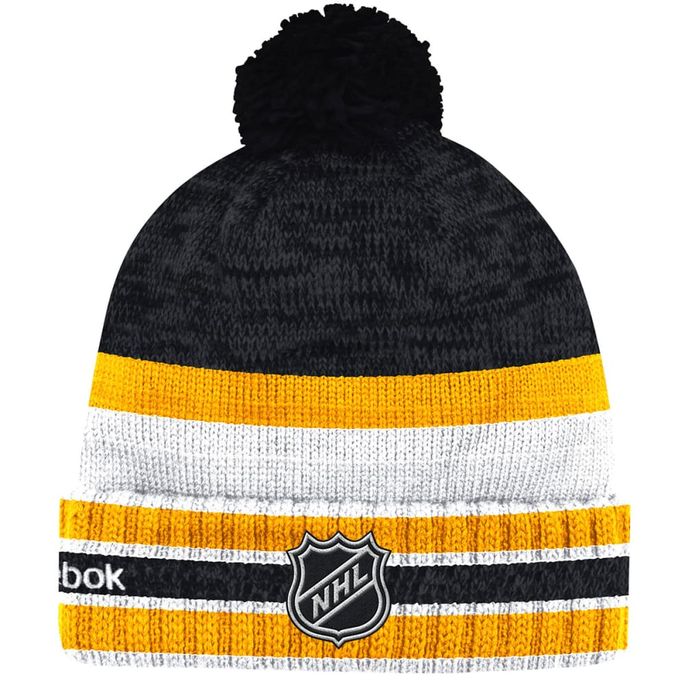 BOSTON BRUINS Pom Beanie - STEALTH GREY/GRAPHIT