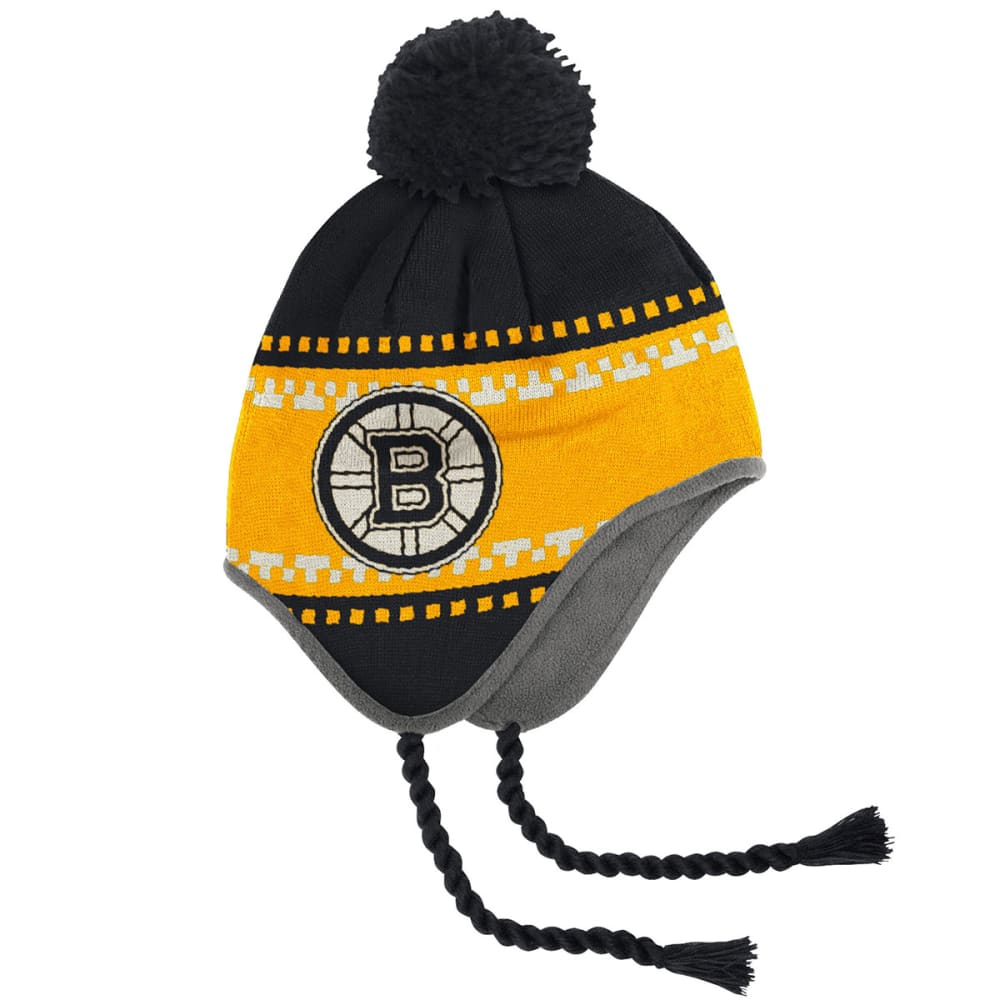 BOSTON BRUINS Peruvian Tassel Knit - STEALTH GREY/GRAPHIT