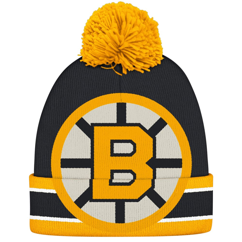 BOSTON BRUINS Logo Pom Beanie - STEALTH GREY/GRAPHIT