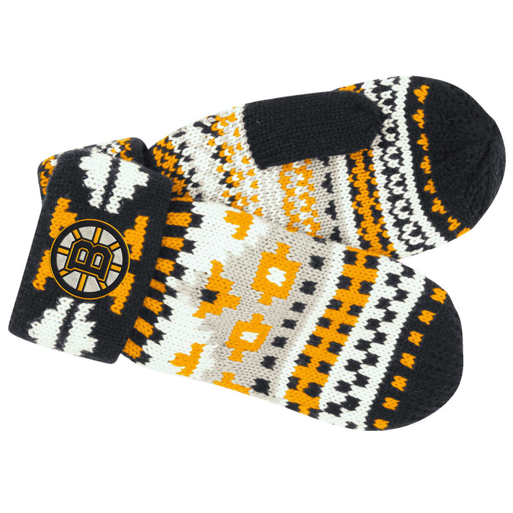 BOSTON BRUINS Women's Jacquard Mitten - STEALTH GREY/GRAPHIT