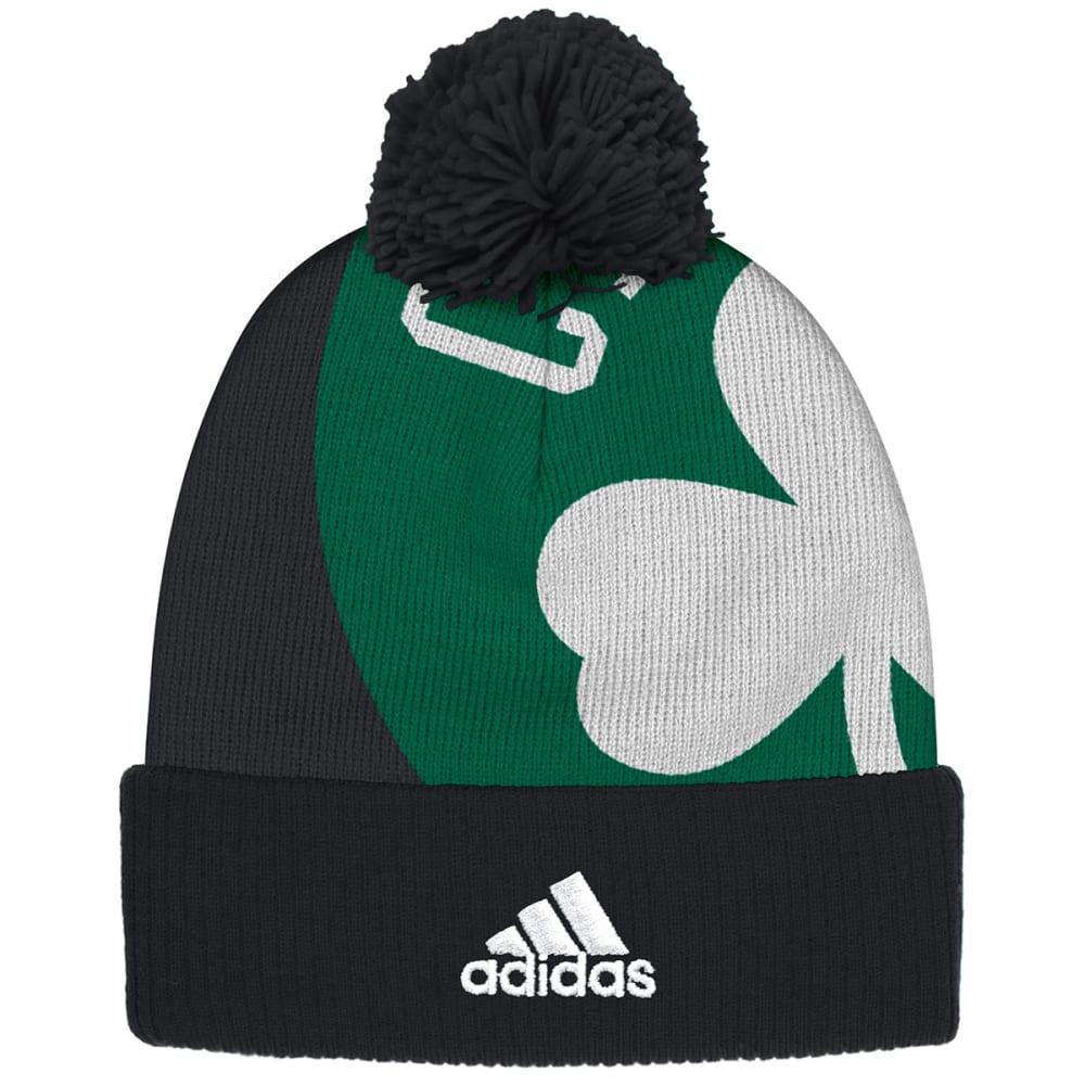 BOSTON CELTICS Big Logo Cuffed Pom Beanie - CELTICS