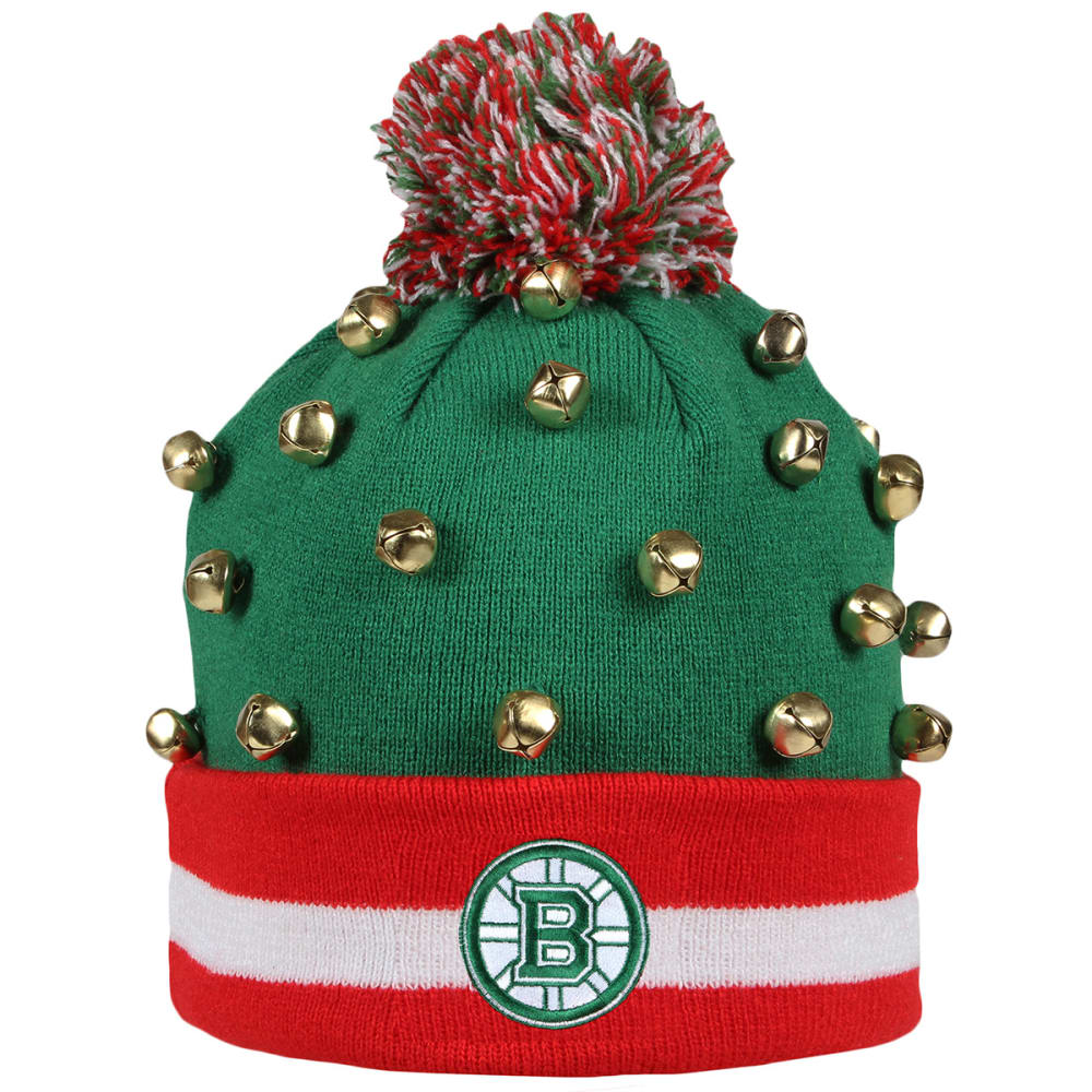 BOSTON BRUINS Ho Ho Cuffed Pom Beanie - BRUINS