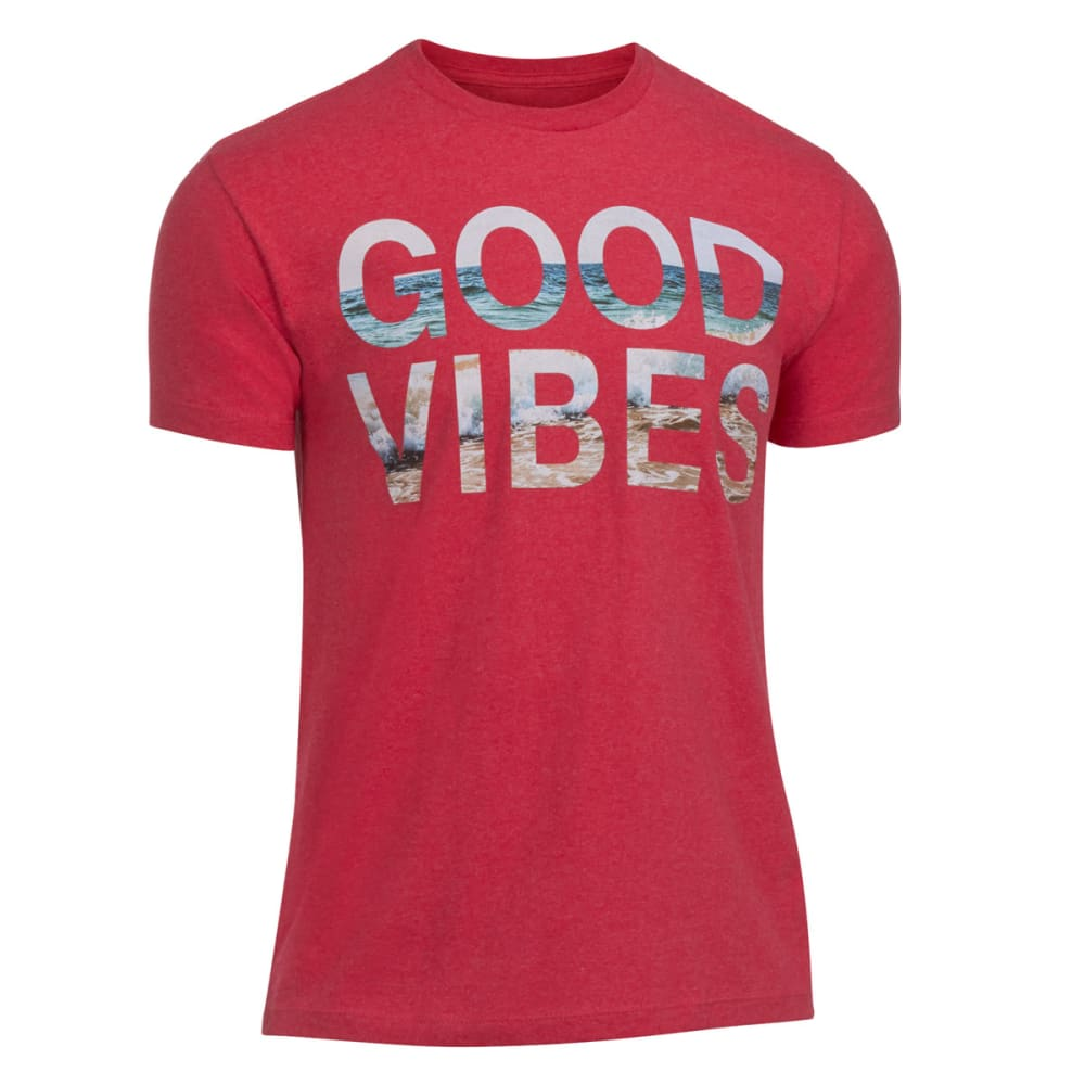 OCEAN CURRENT Guys' Good Vibes Tee - RED