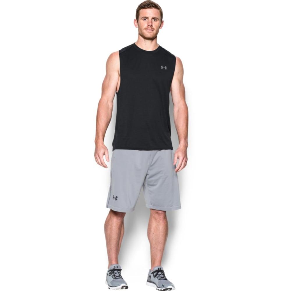 UNDER ARMOUR Men's Tech Muscle Tank - BLACK/STEEL-001