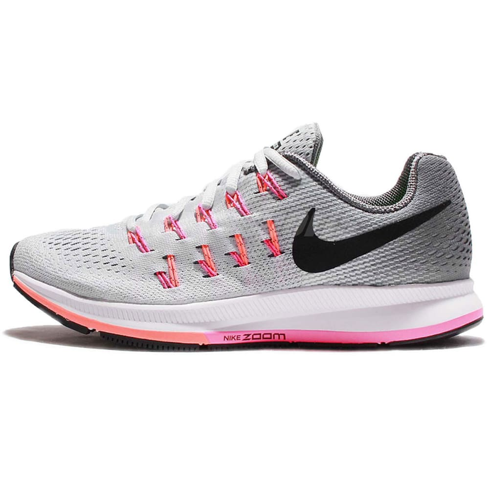 NIKE Women's Air Zoom Pegasus 33 Running Shoes - LT GRAY