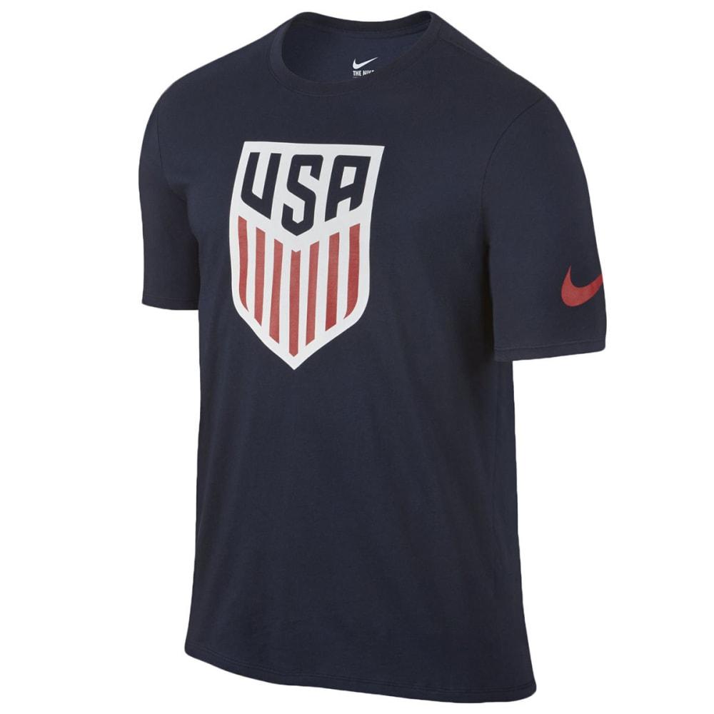 NIKE Men's USA Soccer Crest Tee - NAVY-451