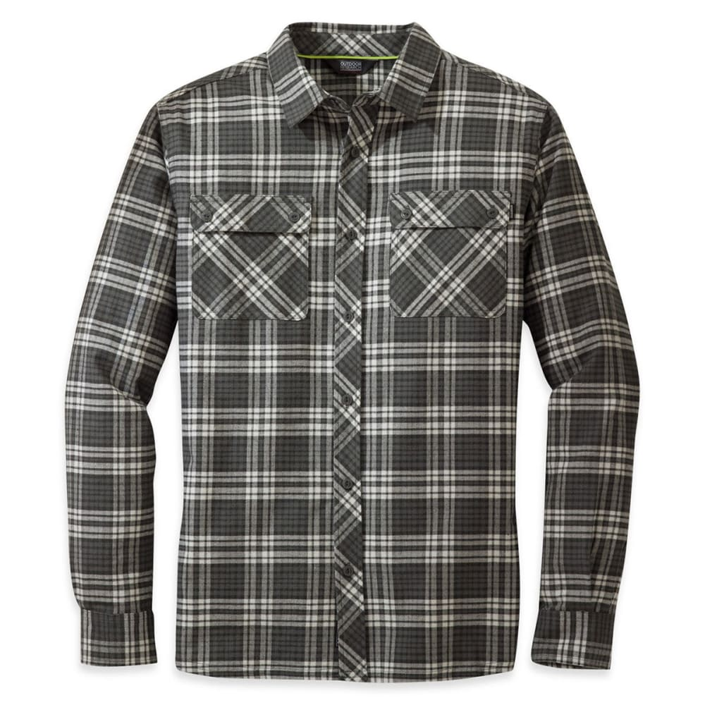 OUTDOOR RESEARCH Men's Crony Long-Sleeve Shirt - CHARCOAL