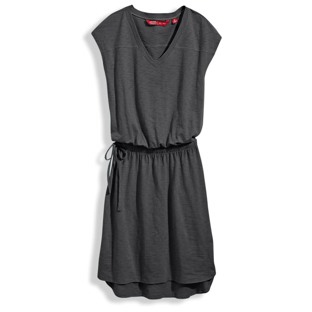 EMS V-Neck T-Shirt Dress - EBONY