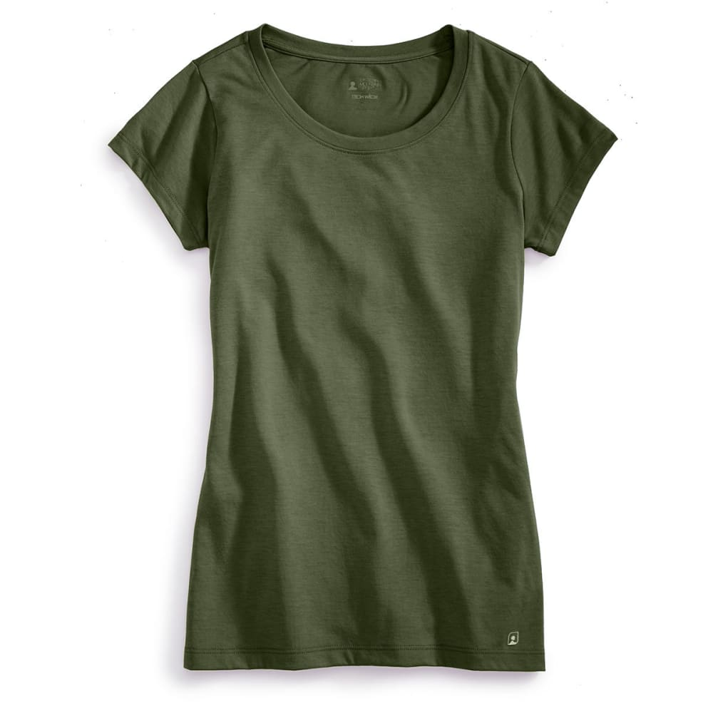 EMS® Women's Techwick® Vital Crew Neck Tee   - WORN OLIVE