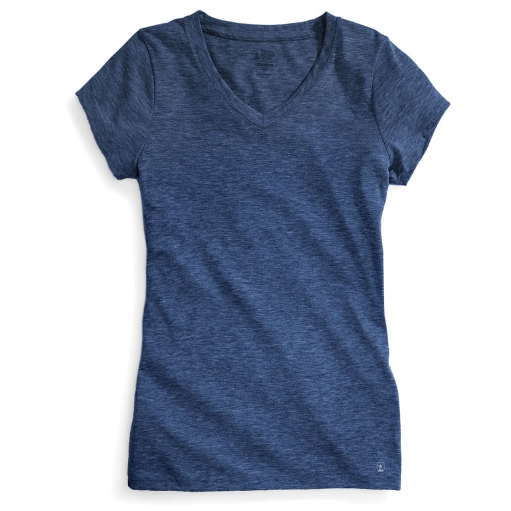 EMS® Women's Techwick® Vital V-Neck Tee  - ENSIGN BLUE HEATHER