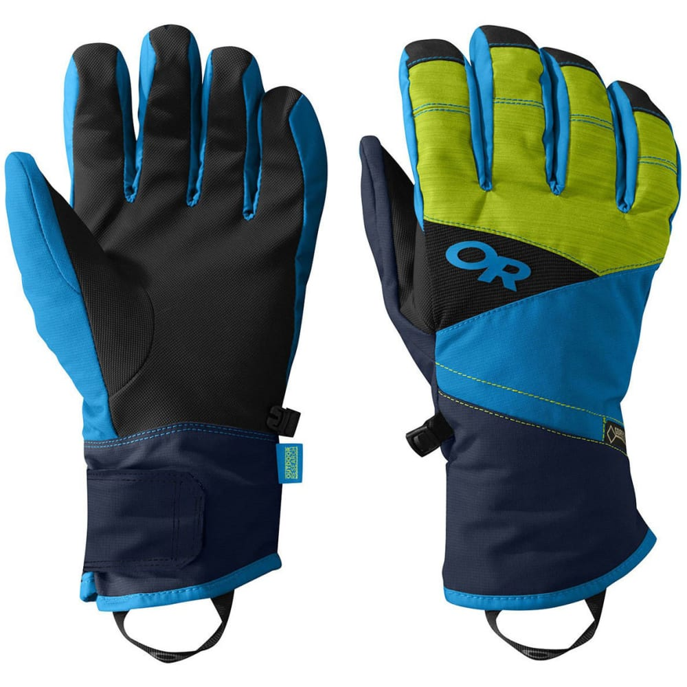 OUTDOOR RESEARCH Men's Centurion Gloves - NIGHT/LMNGRSS/TAHOE