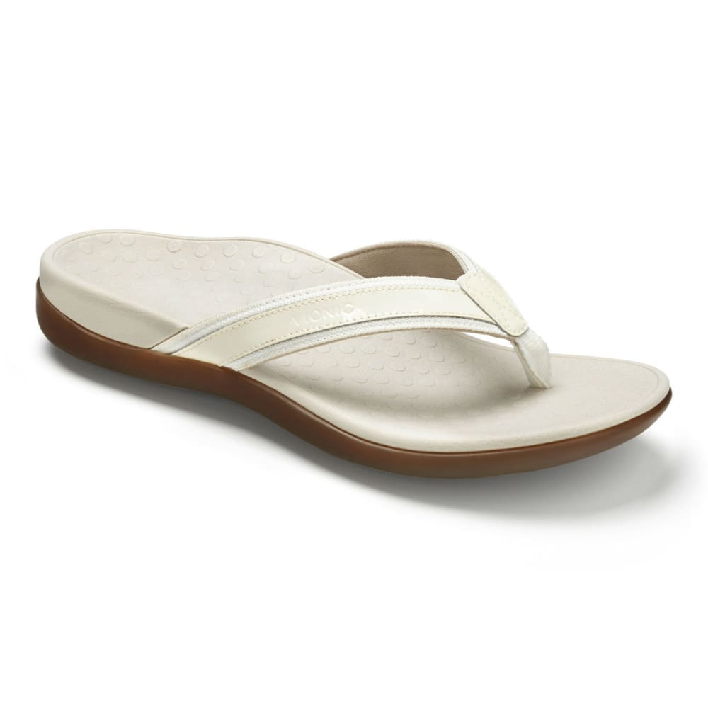 VIONIC Women's Tide II Toe Post Sandals, White - WHITE