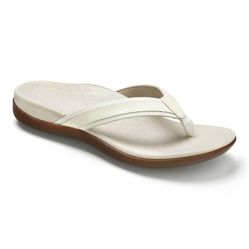 VIONIC Women's Tide II Toe Post Sandals, White - WHITE