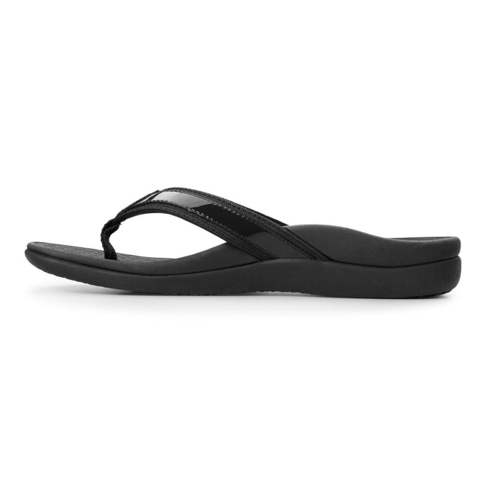 VIONIC Women's Tide II Toe Post Sandals, Black - BLACK