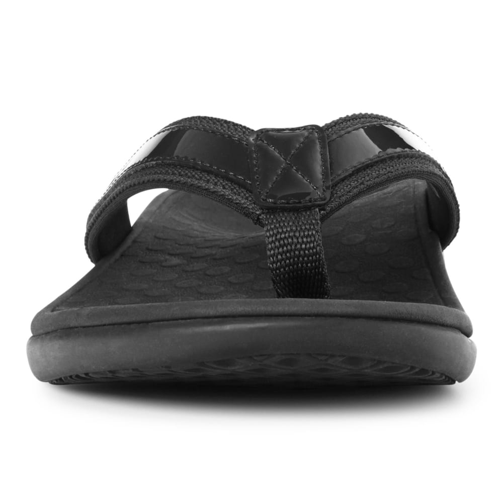VIONIC Women's Tide II Toe Post Sandals, Black - BLACK