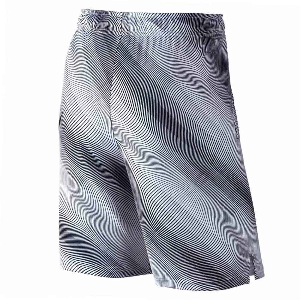 NIKE Men's 9 in. Fly Linear Flow Print Shorts - WHITE-100