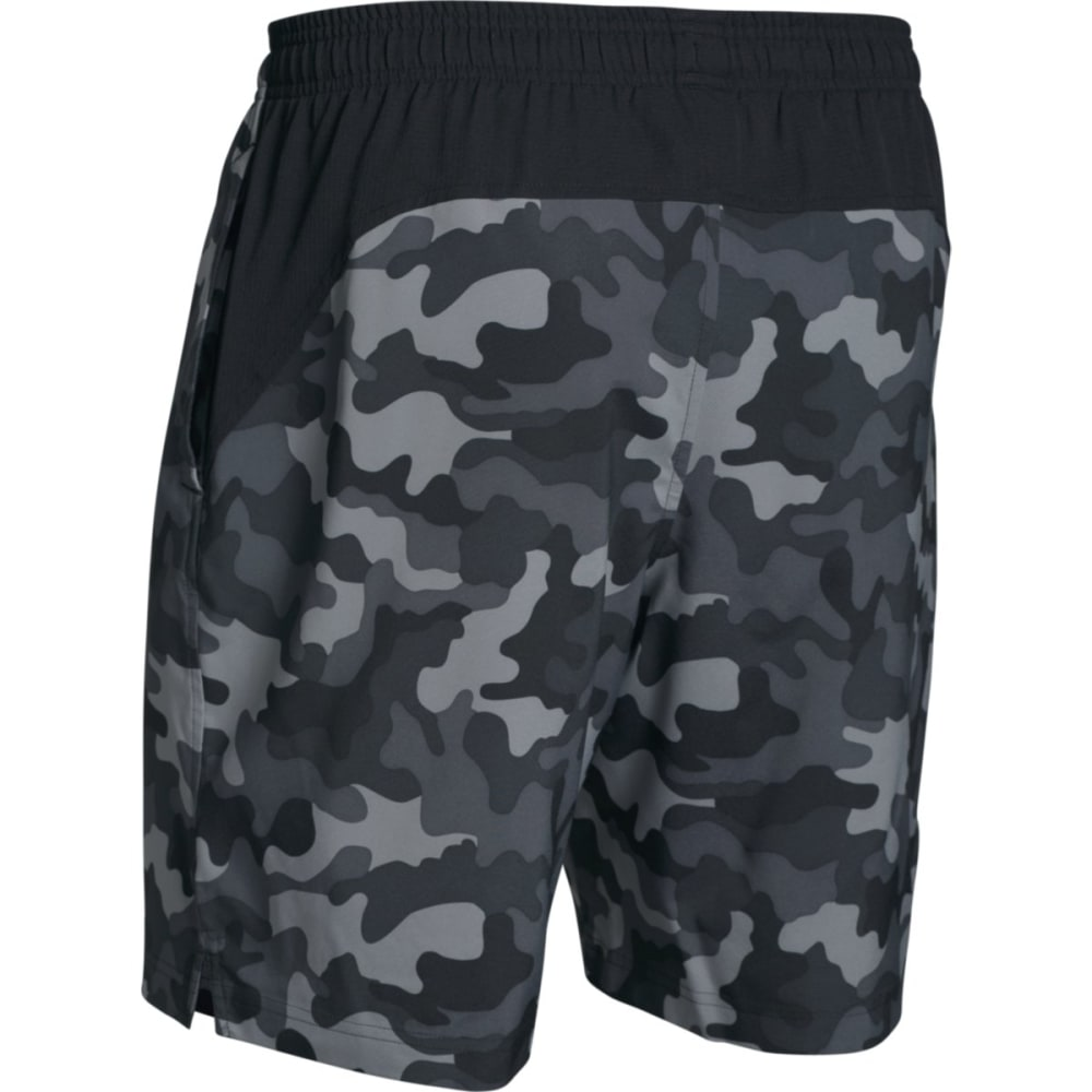 UNDER ARMOUR Men's Hiit Novelty Camo Shorts - BLACK-001