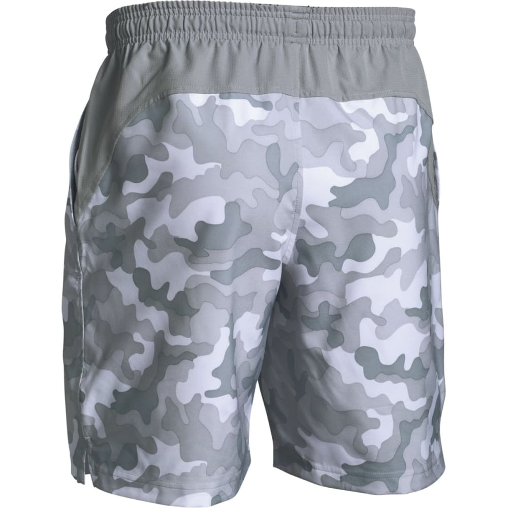 UNDER ARMOUR Men's Hiit Novelty Camo Shorts - WHITE/BLACK-100