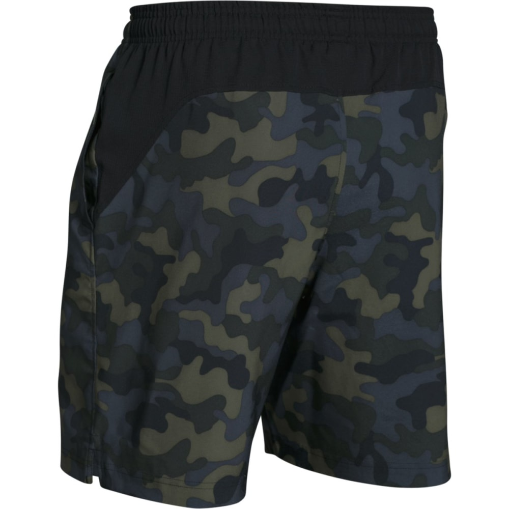 UNDER ARMOUR Men's Hiit Novelty Camo Shorts - ROUGH/BLACK-334