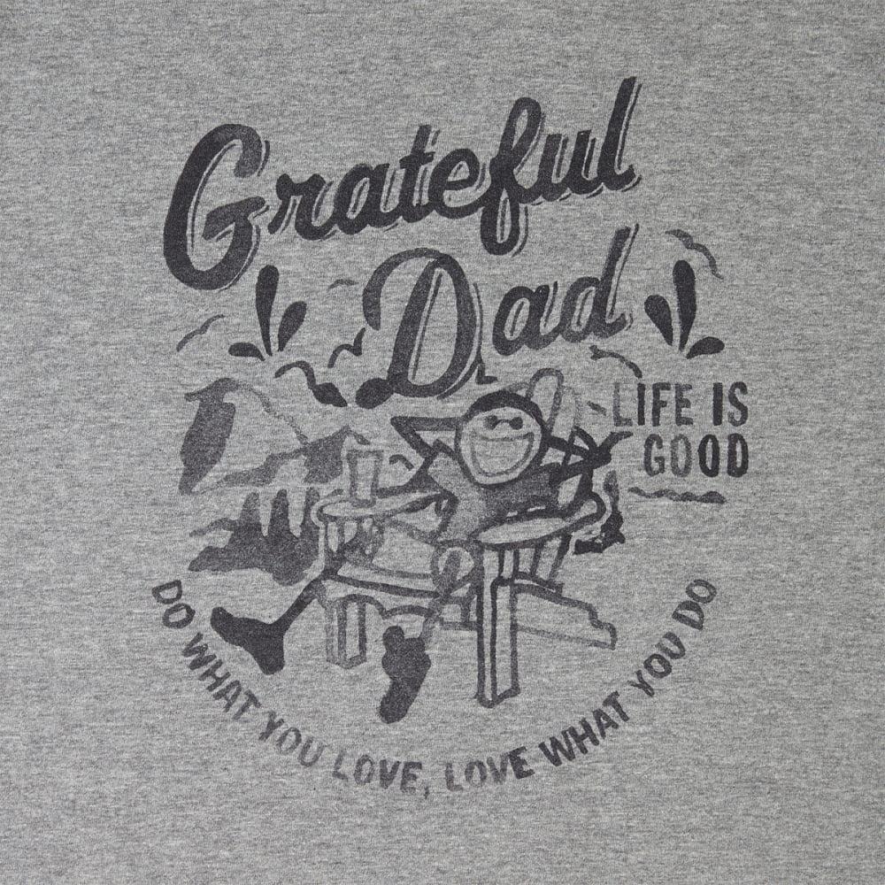 LIFE IS GOOD Men's Grateful Dad Crusher Tee - HEATHER GREY