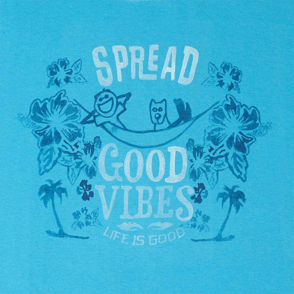 LIFE IS GOOD Men's Spread Vibes Crusher Tee - BRIGHT BLUE