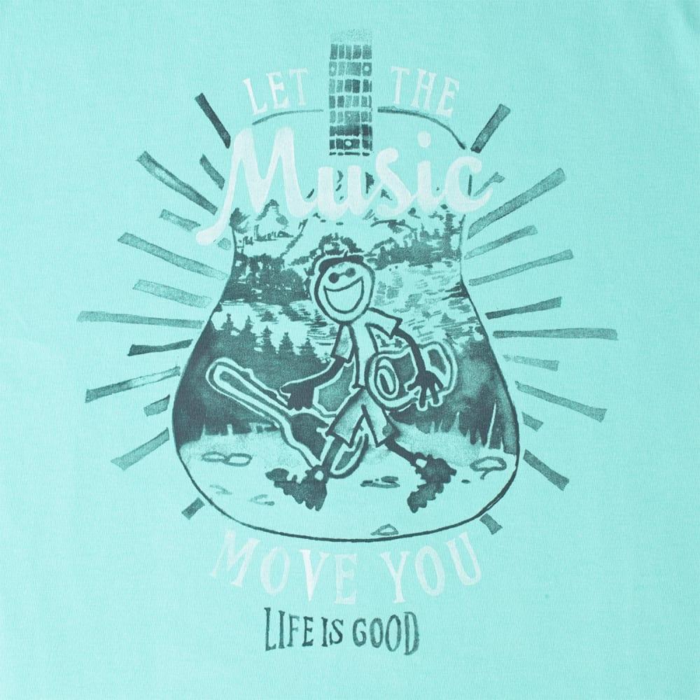 LIFE IS GOOD Men's Let Music Move Crusher Tee - COOL AQUA