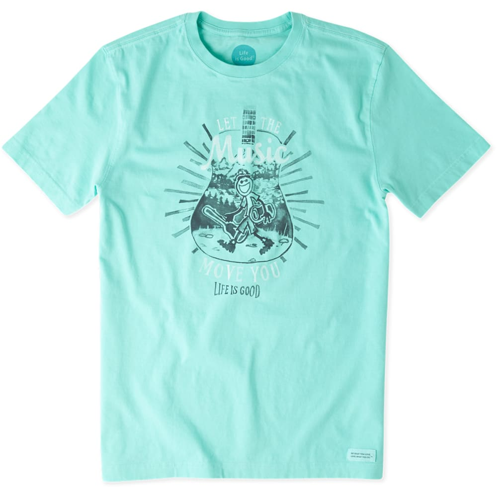 LIFE IS GOOD Men's Let Music Move Crusher Tee - COOL AQUA