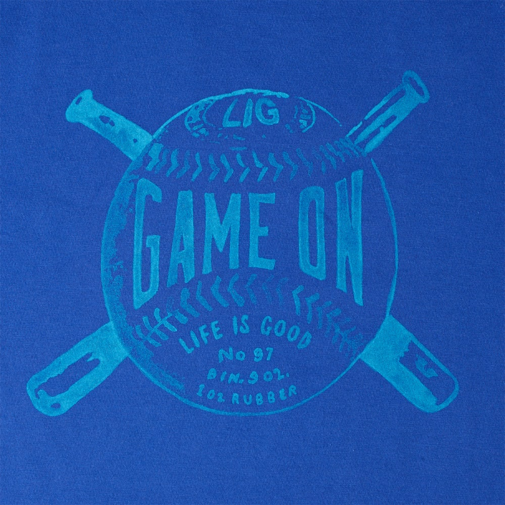 LIFE IS GOOD Men's Game On Crusher Tee - COBALT BLUE