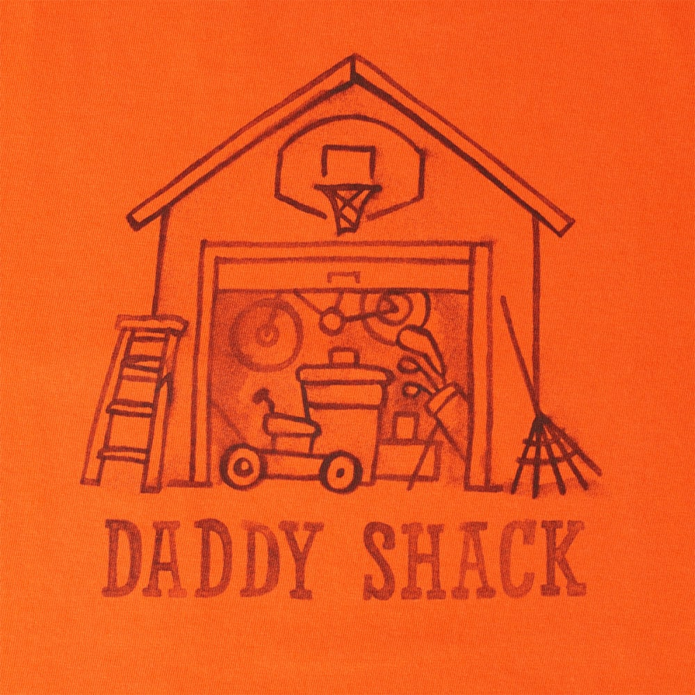 LIFE IS GOOD Men's Daddy Shack Crusher Tee - FLAME ORANGE