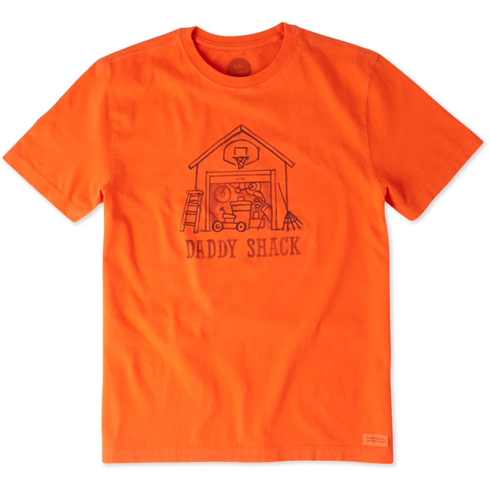 LIFE IS GOOD Men's Daddy Shack Crusher Tee - FLAME ORANGE