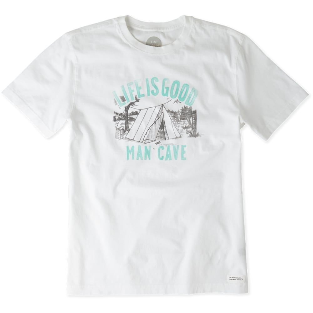 LIFE IS GOOD Men's Man Cave Crusher Tee - CLOUD WHITE