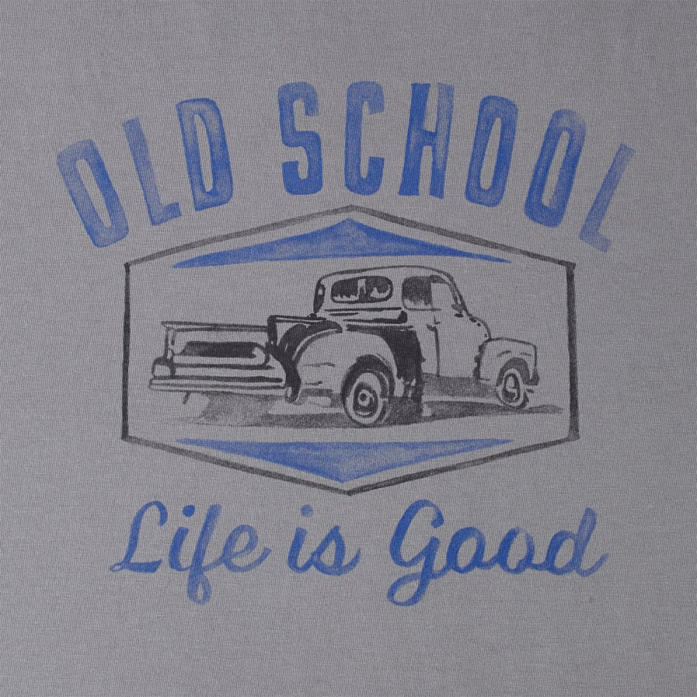 LIFE IS GOOD Men's Old School Crusher Tee - SLATE GREY