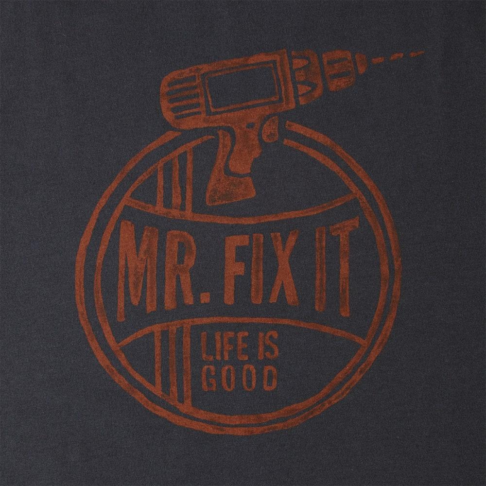 LIFE IS GOOD Men's Mr. Fix It Crusher Tee - NIGHT BLACK