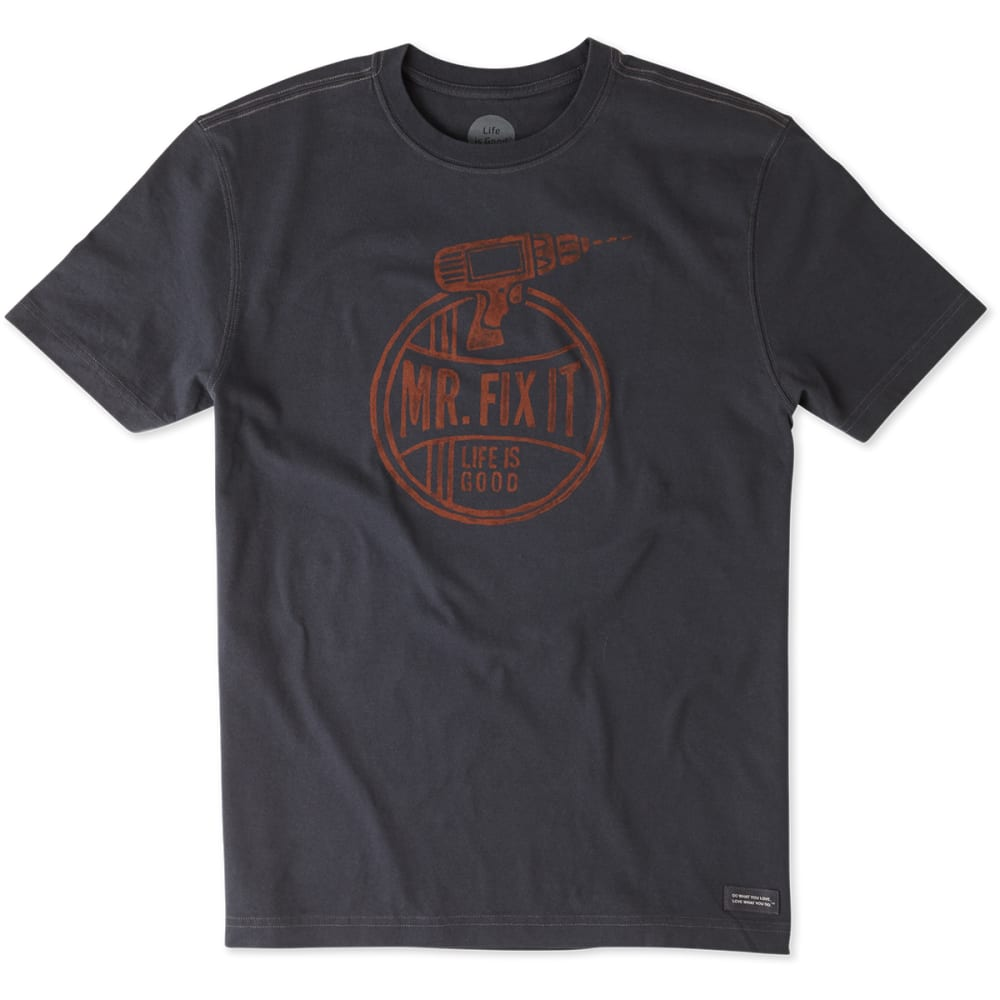 LIFE IS GOOD Men's Mr. Fix It Crusher Tee - NIGHT BLACK