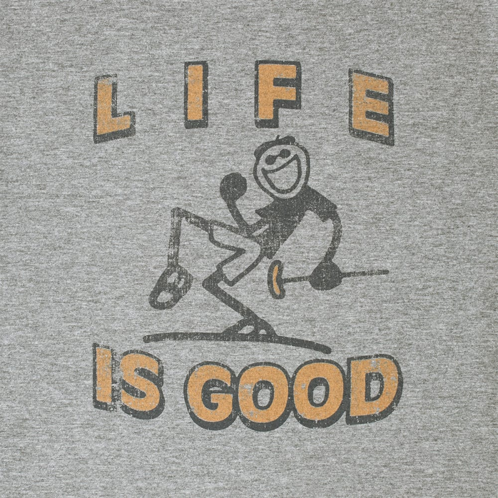 LIFE IS GOOD Men's Golf Jake Crusher Tee - HEATHER GREY