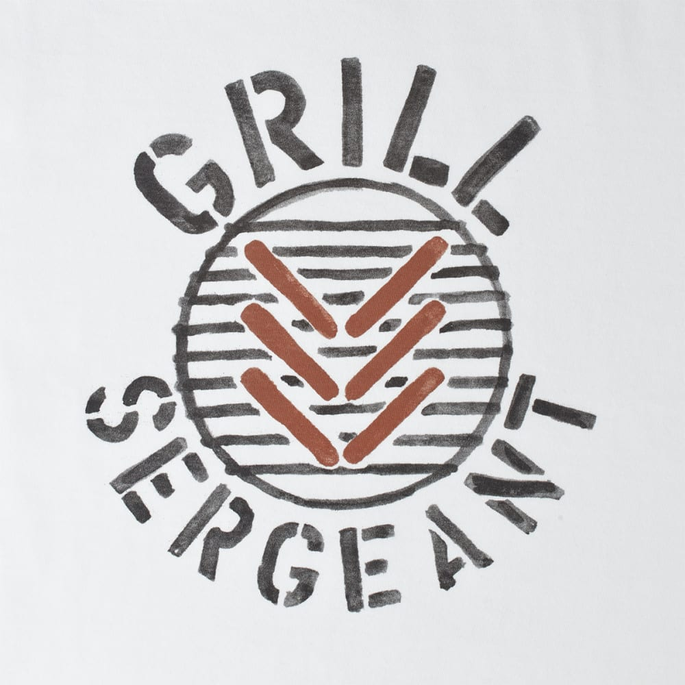 LIFE IS GOOD Men's Grill Sergeant Crusher Tee - CLOUD WHITE