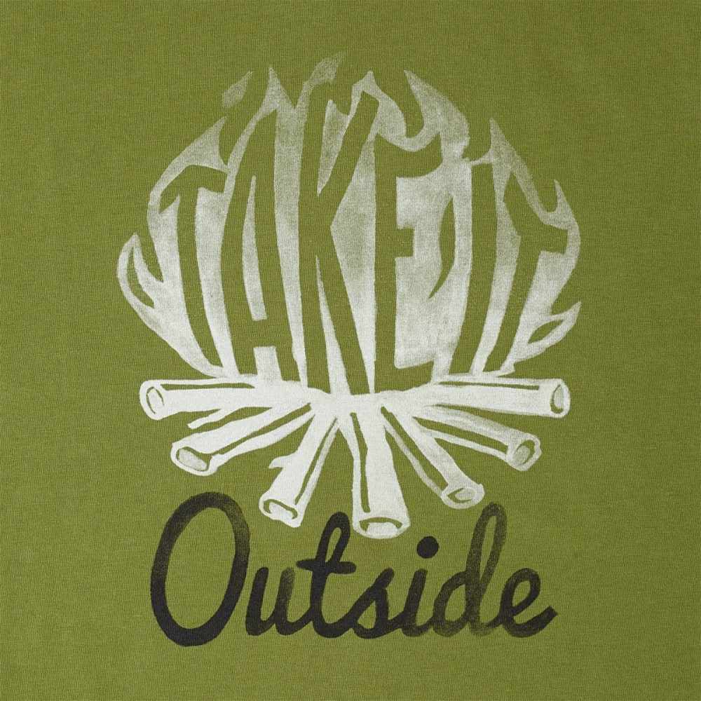 LIFE IS GOOD Men's Take It Outside Crusher Tee - OLIVE