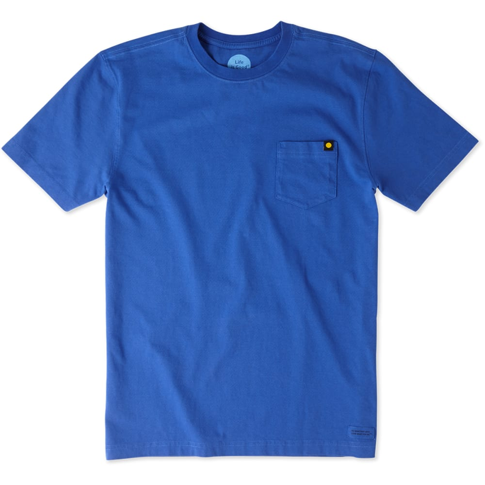 LIFE IS GOOD Men's Not All Who Wander Crusher Tee - COBALT BLUE