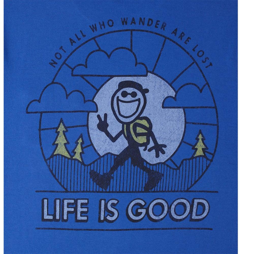 LIFE IS GOOD Men's Not All Who Wander Crusher Tee - COBALT BLUE
