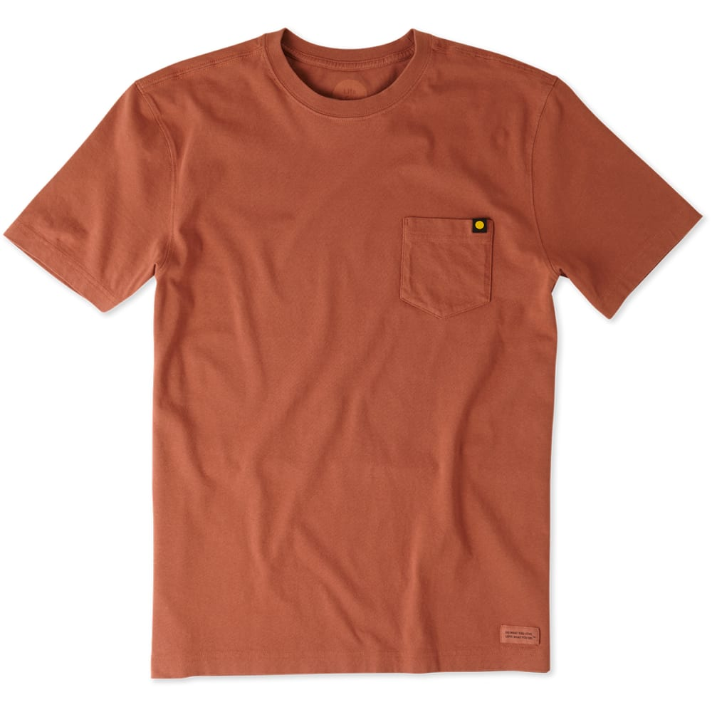 LIFE IS GOOD Men's Seas The Day Crusher Tee - RUSTY COPPER