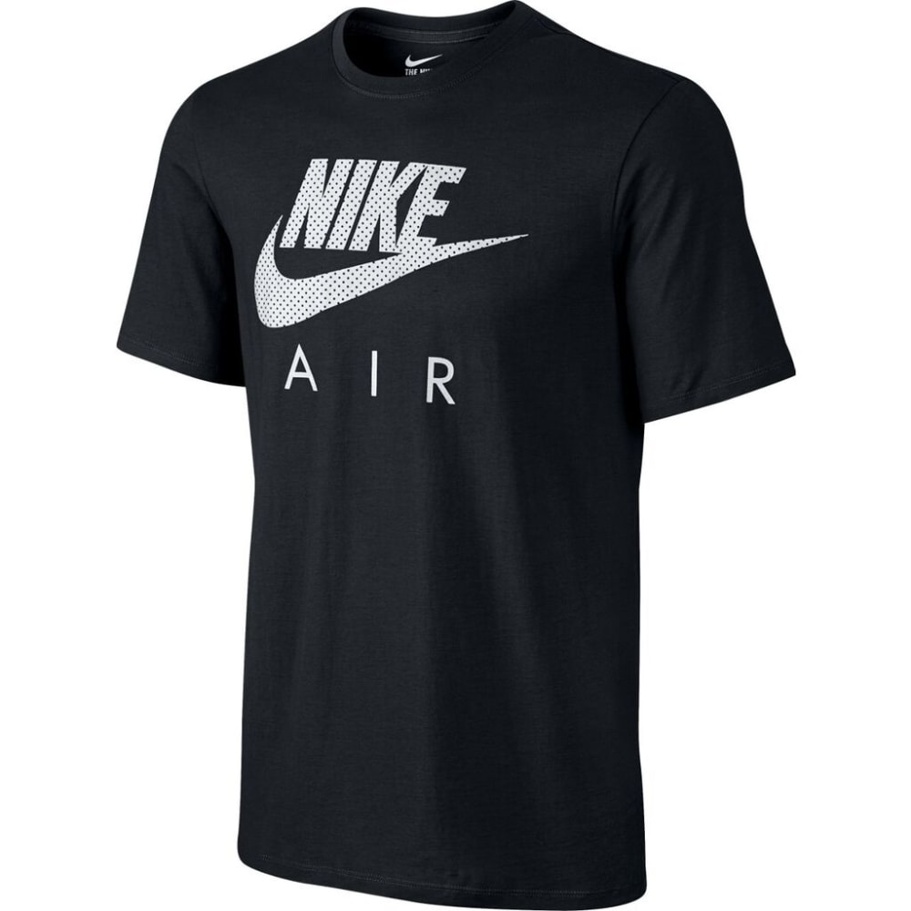 NIKE Men's Air Heritage Short-Sleeve Tee - BLACK-010