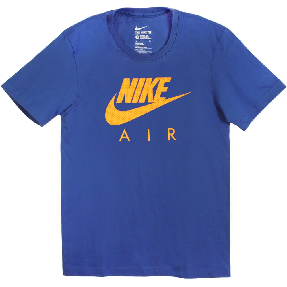 NIKE Men's Air Heritage Short-Sleeve Tee - DEEP ROYAL-455