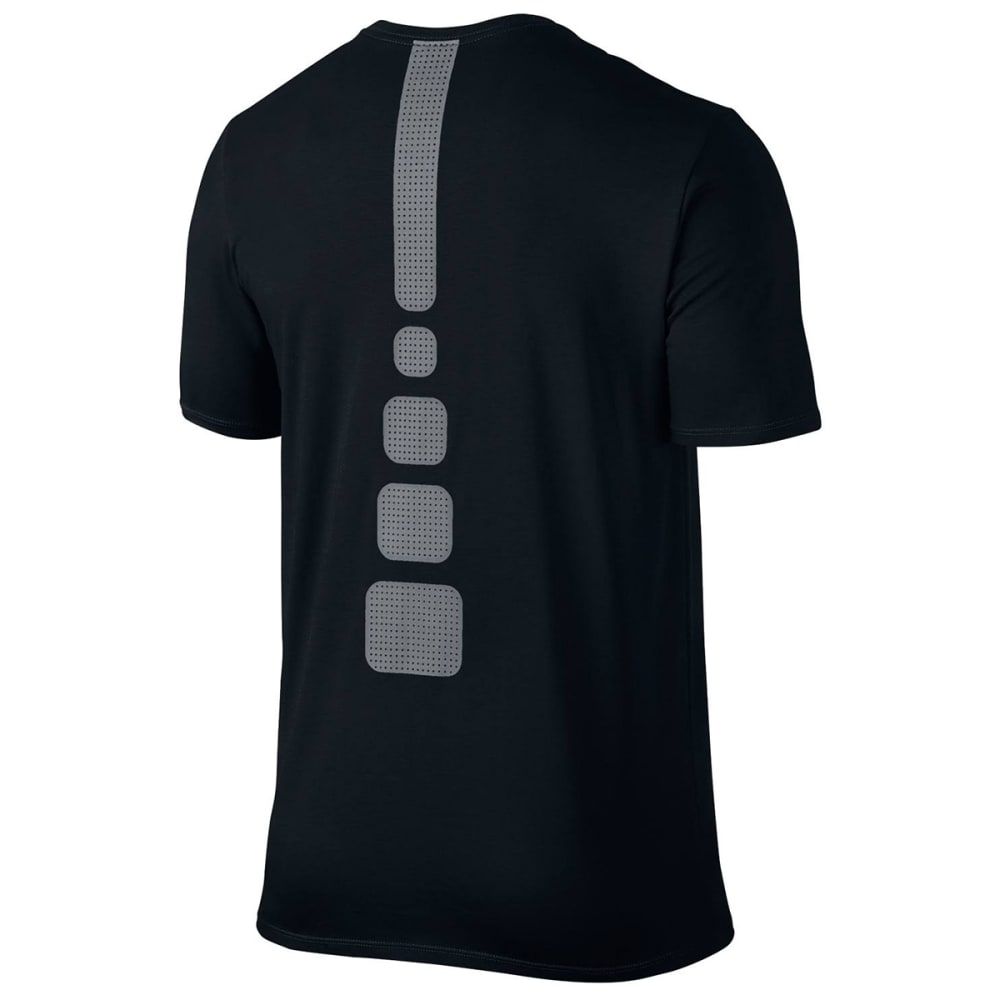 NIKE Men's Elite Short-Sleeve Tee - BLACK/COOL GREY-010